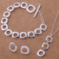 As039 caliente 925 sistemas de la joyería pendiente 239 + collar 239 + pulsera…