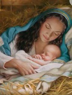 Blessed Virgin Mary and Baby Jesus, Happy Birthday Jesus! Merry Christmas Everyone! Madonna Und Kind, Madonna And Child, Blessed Mother Mary, Blessed Virgin Mary, Catholic Art, Religious Art, Catholic Priest, La Salette, Jesus Tattoo