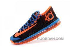 57ff38613b84 Nike KD 6 VI Elite Black Royal Blue-Team Orange Cheap For Sale Online Top  Deals Wsxrb2