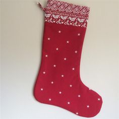 FULLY LINED Christmas Stocking  EMMA BRIDGEWATER  Red  JOY  & Etoile fabrics