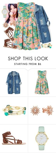 """""""Japanese Friend#243"""" by cfull ❤ liked on Polyvore featuring Chicnova Fashion, Charlotte Russe, Kenza Lee, Ancient Greek Sandals and Kate Spade"""