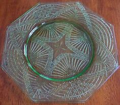 Romanesque depression glass