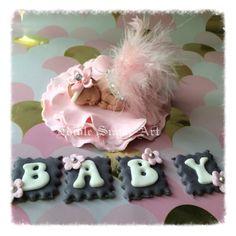 BABY-Dusche-Kuchen Rosa Feder Tutu Topper Fondant Baby Tutu Cake Topper Fondant Cake Topper Babymädchen
