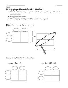 Printables Multiply Binomials Worksheet foil foldable for multiplying binomials inside example middle polynomials foil