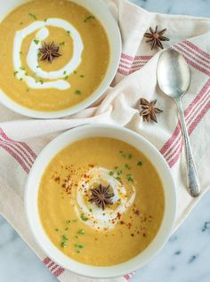 Acorn Squash Soup with Star Anise {Recipe Redux} @healthynibs