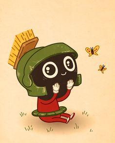 """Marvin the Martian from """"Just Like Us"""" by Mike Mitchell."""