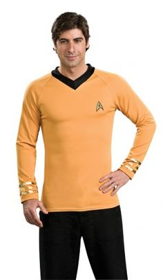 Tee-Shirt Capitaine Kirk Star Trek Clasique Jaune