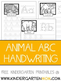 Our ABC handwriting pages are great for children who are beginning to write. Children trace the letters, then try out their own letters in the blank spaces provided. Each worksheet features upper a…
