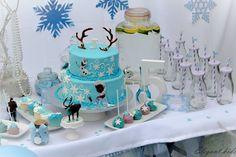 #frozen themed dessert table