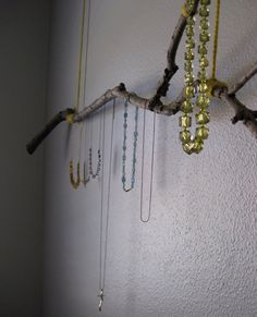necklace hanging branch