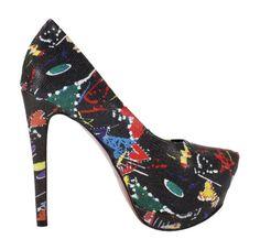 21d90bd54d Scarpin Meia-Pata Salto Alto Week shoes Estampado Preto