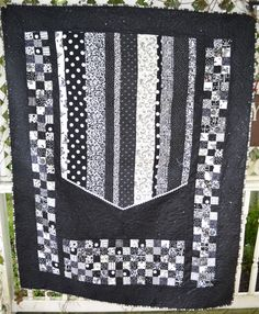 Black and White Modern Quilt