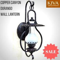 Copper Canyon Durango Wall Lantern #WesternLighting #Vintage #Western #Lantern