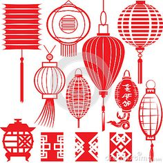 Chinese Lantern Collection by Bigredlynx, via Dreamstime