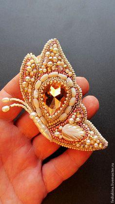 "Bead embroidery brooch Butterfly | Брошь""Бабочка"". Handmade."
