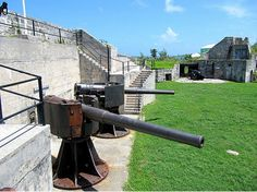The Cannons at Alexandra Battery.Pin provided by Elbow Beach Cycles http://www.elbowbeachcycles.com