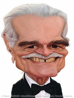 Male Movie Stars #Caricature (Omar Sharif)  http://dunway.com/