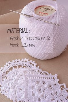 Lace crochet material by Anabelia; patterns and diagrams