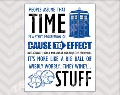 Timey Wimey Doctor Who Quote 8x10 Printable File -Instant Download- on Etsy, $12.99 AUD