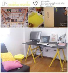 Cavaletes amarelos #diy   http://casadasamigas.com/