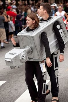 Nope, scratch that. THIS is the best costume I've seen all year. Couple's AT-AT. Awesome.