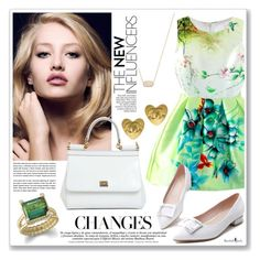"""""""Senza titolo #1429"""" by valentina-agnese ❤ liked on Polyvore featuring Dolce&Gabbana, Chanel and Kendra Scott"""