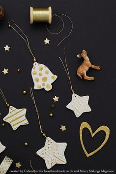 How to make DIY christmas ornaments using Clay!