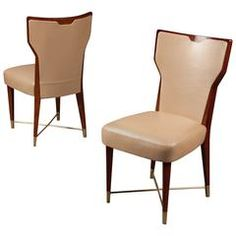 Pair of Chairs by Gio Ponti, Italy, 1950s