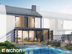 Dom w narcyzach (S) Narrow House, Ideas Para, Pergola, Outdoor Decor, Design, Home Decor, Futuristic, Decoration Home, Room Decor