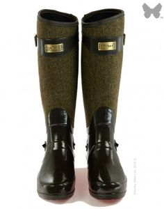 Hunter Ladies' Regent Apsley Wellington Boots - Chocolate.  I AM SO OBSESSED