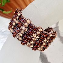 Amber Crystal Bracelet - $24.95 on twoangeldesigns.com and on ETSY