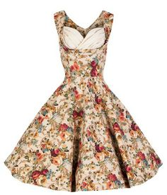 Lindy Bop Ophelia Vintage 1950s Floral Spring Garden Party Picnic Dress