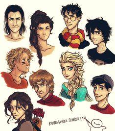 Will Solace, Nico di Angelo,Harry Potter, Loki, Tadashi Hamada, Tirion Lanister, Katnis Everdeen