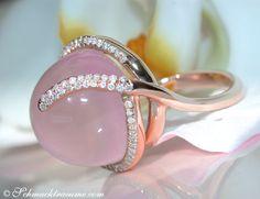 Beautiful Rose Quartz Diamond Ring » Juwelier Schmucktraeume.com