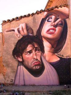 ''Spain's Turkesa takes out the trash!'' LOL!... Street Art. S)