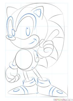 How To Draw Sonic Easy Step 7 Drawing In 2019 How To