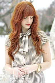 Love this look ...Stunning light auburn copper, shimmering with the loose waves.... Stunning image!