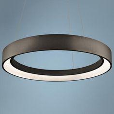 """Elan Fornello 23 1/2"""" Wide Dimmable LED Black Pendant Light $613"""