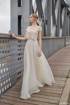 Limor Rosen crop top wedding dress