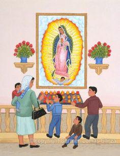 Virgen Guadalupe   - 1991,    Carmen Lomas Garza