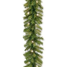 Santa's Little Helper Collection 9' x 10 inch Norwood Fir Garland with 50 Battery Operated Soft White LED Lights