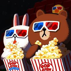 ― Yoyoさん( 「Sundate movie with my brown .shall we hangout together ! How long do u want me to wait . Sick and tired of dating ! Cony Brown, Brown Bear, Line Cony, Bear Gif, Cute Couple Cartoon, Lines Wallpaper, Drawn Art, Cute Love Gif, Brown Line