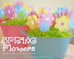 free printable spring flower centerpiece