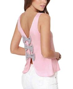 Womens Elegant Butterfly Knot Back Open Back Casual Tank Tops Pink XS MIMW http://www.amazon.com/dp/B00K4O7ONI/ref=cm_sw_r_pi_dp_Sf1Xtb00ZFF4RMJM