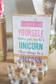 Vintage Unicorn Birthday Party via Kara's Party Ideas KarasPartyIdeas.com Desserts, favors, banners, bunting and more!…