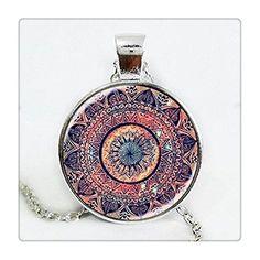 L' ultima Design Art regalo Splendor di colore Kaleidoscope Mandala collana cabochon in vetro