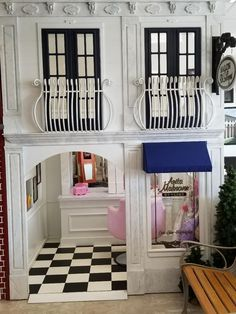 Custom Playhouse Designs for Businesses Boys Playhouse, Build A Playhouse, Modern Playhouse, Backyard Playhouse, Playhouse Interior, Kids Salon, Playroom Design, Toy Rooms, House Beds