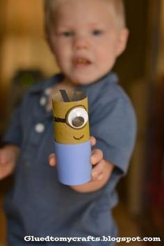 Despicable Me Minions made out of toilet paper rolls - Such a fun craft for kids! by kyleigh_trujillo