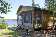 Papaonga Lake Outpost Cabin, North of Ear Falls and Red Lake Ontario.    Canadian Fly in Fishing Trips