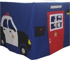 Police Station Card Table Playhouse, Custom Order, Personalized. $195.00, via Etsy.